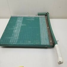 Premier Green Paper Cutter Trimmer 13x13 In Guillotine Photo Material Heavy Duty