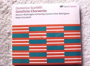 72952 Domenico Scarlatti Geistliche Chorwerke [NEW / SEALED] CD (2012)