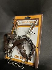 MF Western Products Kids Spurs Metal Leather