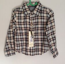 Eddie Pen Designer Baby Boys Plaid Check Shirt Size 12-18 Months BNWT