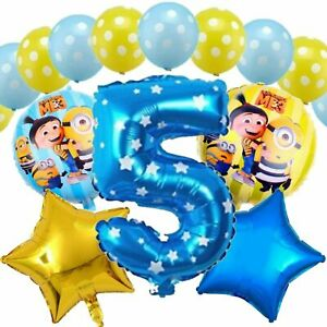 MINIONS DESPICABLE ME BIRTHDAY PARTY HELIUM FOIL AGE NUMBER BALLOONS