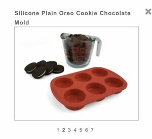 Plain Chocolate Oreo Cookie Mould Oreo Silicone Cookie Mould 6 Shapes