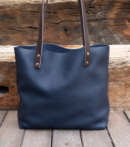 Leather Tote bag Handmade. Cloud