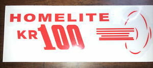 Homelite Go-Kart Decal OLD SCHOOL 1960 KR 100 Decal Reproduced From Original
