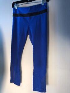 Lululemon Run: Inspire Crop Luxtreme Blue Size 6 Bin-P