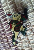 South Sydney Rabbit Rugby League mascot pin badge