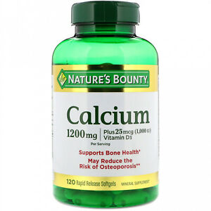 Nature's Bounty, Calcium Plus Vitamin D3, 1,200 Mg, 120 Rapid Release Softgels