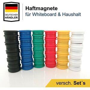 Starke Magnete für Whiteboard, Kühlschrank & Pinnwand Magnet Haftmagnete Bunt