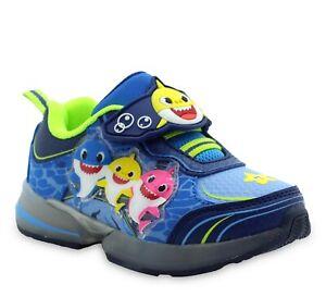 Baby Shark Toddler Light Up Tennis Shoes Sneaker Boys Girls 6T 7T 8T 9T 10T NEW