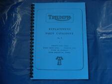 TRIUMPH 3TA/5TA/T90/T100 PARTS BOOK FOR 1964 MODELS