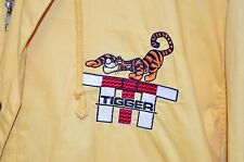 The Disney Store TIGGER Yellow 100% Cotton Zip Button Coat Jacket Size XL