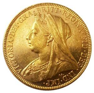 1899-M Queen Victoria Widow Head Gold Sovereign (Melbourne)