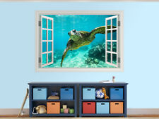 Giant tortoise close-up photo window wall sticker wall mural (58036908ww)