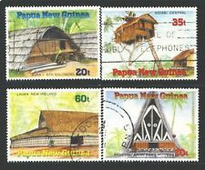 PAPUA NEW GUINEA 711-14 SG593-96 Used 1989 Thatched Dwellings set of 4 Cat$4