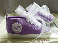 Canvas Pram Baby Shoes with Laces