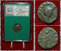Ancient Roman Empire Coin SALONINA Juno Holding Patera On Reverse Antoninianus