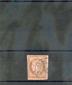FRENCH INDIA, FORERUNNER (YT 18)VF 10c BROWN/ROSE, PONDICHERY 01MAY77  $150