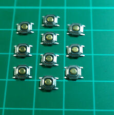 Momentaneo tattile Push Button Switch - 10 Pack-argento PCB 2 pin-gratis UK P & P