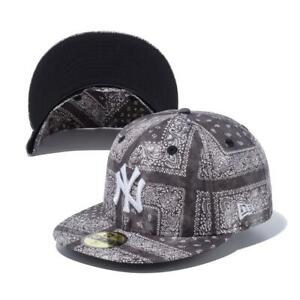 New Era 59Fifty New York Yankees Tie Dye Paisley Black Color Cap New
