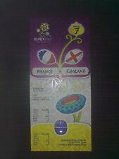 Billete de euro 2012 Francia-Inglaterra 11/06/2012 juego #7 en Donetsk Menta