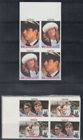 Nevis 1986 Royal Wedding  Sc 498-499 IMPERF checkerboard pair  mint never hinged