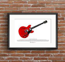 Eric Clapton's Gibson ES-335 Cream Guitar ART POSTER A3 size
