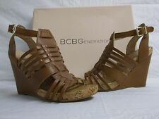 BCBGeneration BCBG Size 5.5 M Blayne Saddle Leather Wedges New Womens Shoes