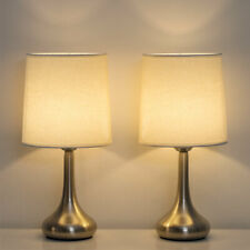 HAITRAL Modern Table Bedside Lamp Set of 2 with Fabric...