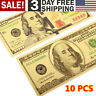 Gold One Hundred Dollar Bill 24K Banknote Ben Franklin Note US $100 Collectible
