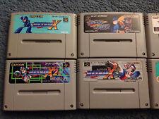 6 Rock Man Famicom Carts Super SNES Nintendo Japanese X X2 X3 Mega Man 7 Soccer