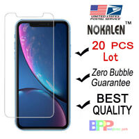 "NOKALEN 20X Wholesale Lot Apple iPhone XR 6.1"" Tempered Glass Screen Protector"