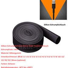 Silikon Schlauch Schrumpfschlauch φ0.8mm~30mm HOCH TEMP 200℃ Schrumpfschläuche