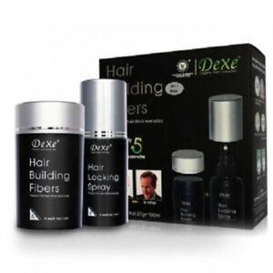 Dexe Hair Building Fibers 22g Color Choose & Hair Locking Spray 100ml Set