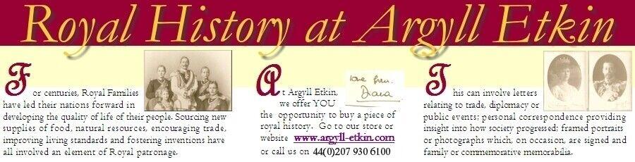 ROYALTY HISTORY AT ARGYLL ETKIN