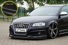 Spoilerschwert Frontspoiler Lippe  ABS für Audi S3 8P 8PA mit ABE Carbon Optik