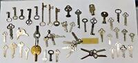 HUGE Lot Rare Keys Antique Vintage Skeleton Hollow Barrell Key Box Mail 50s