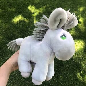 """1985 Vintage Applause Precious Moments Plush Purple Gray Donkey Roly 11"""""""