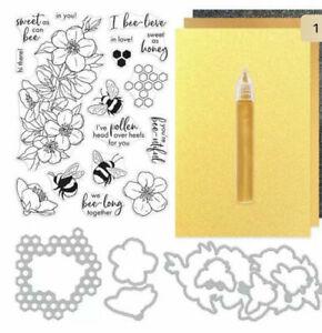 Hero Arts MY MONTHLY HERO KIT JANUARY 2021 NEW Stamps Dies honey comb bee