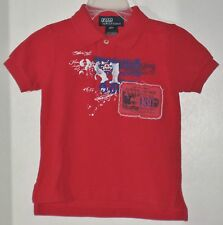 POLO RALPH LAUREN Boys Size 12 Months Red Short Sleeve Shirt