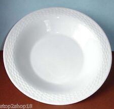 """Wedgwood Nantucket Basket Oversized Pasta Bowl 10.25"""" Woven Edge White China New"""