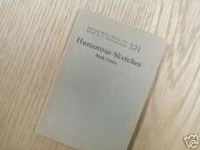 HUMOROUS SKETCHES MARK TWAIN No. 231    1923 *