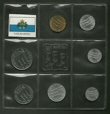 SAN MARINO SERIE N. 7 PEZZI FDC DIVISIONALE DA SET SERIE ZECCA  1975 - OCCASIONE