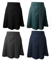 Girls Ladies Gabardine Pleated Formal School Skirt Age 7-8 To Ladies 18