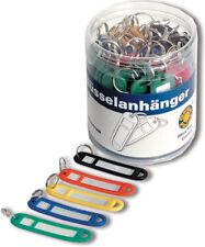 5 farb. Plastik Schlüsselanhänger m.Ring zumBeschriften