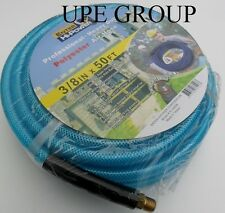 """3/8"""" x 50 ft AIR COMPRESSOR HOSE 350 psi  1/4"""" fittings air tools  POLYESTER"""