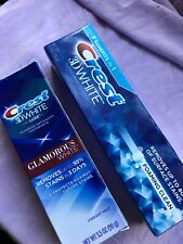 New 2 Items Crest 3D White Luxe Glamorous Teeth Whitening Toothpaste +foaming TP
