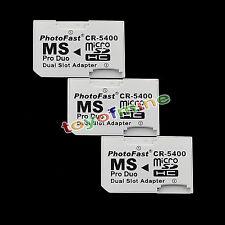doble ranura para Micro SD SDHC TF a MS Pro Duo adaptador convertidor para PSP