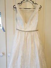 Bertossi Brides v neck lace princess wedding dress size 12-14