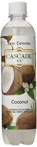 Cascade Ice Sparkling Water Coconut Sugar-Free Sodium-Free 17.2 Oz (Pack of 12)