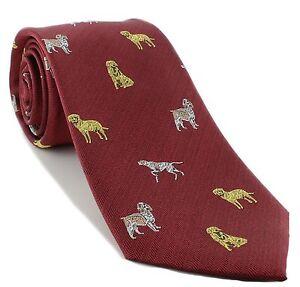 Michelsons of London Gun Dog Silk Tie
